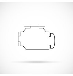 Check engine outline icon vector image vector image