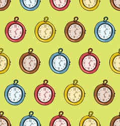Clocks Seamless Pattern vector image