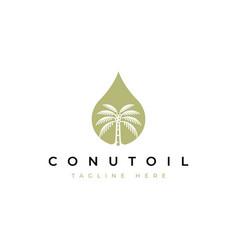 coconut oil logo template vector image
