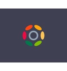 Color letter O logo icon design Hub frame vector image