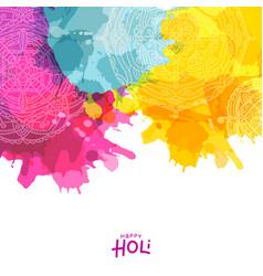 colourful splash with mandala design decorated vector image