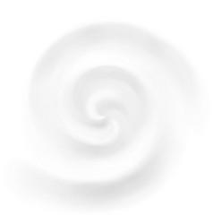 cream yogurt or milk swirl background vector image vector image