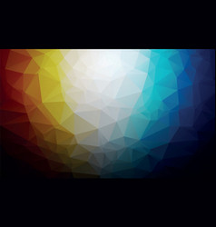 dark orange blue polygon background vector image