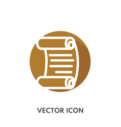 Doodle scroll icon vector