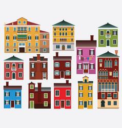 European houses italy vector