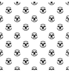 Fire protection department pattern seamless vector