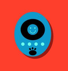 Flat icon design tamagotchi pets pocket game vector