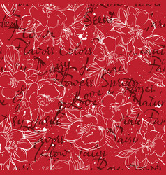 Floral typography background print vector