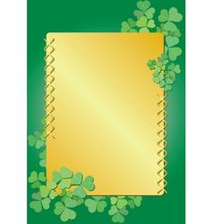 Golden clover frame vector