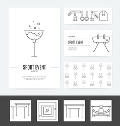 Gymnastics Business Identity vector