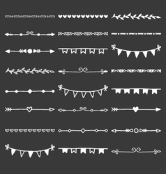 Hand drawn dividers decorative borders vector