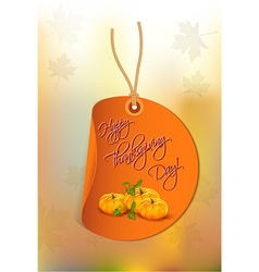 Happy thanksgiving day with pumpkins vector