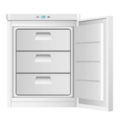 Home freezer icon realistic style vector