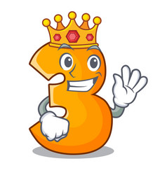 king number three isolated on the mascot vector image