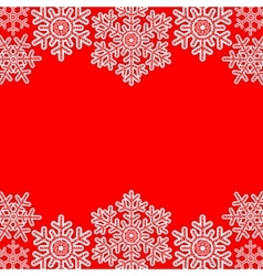 Lace snowflakes borders vector