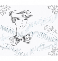 lady musical vector image
