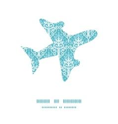 light blue swirls damask airplane vector image