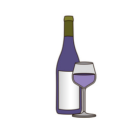 Light coloured silhouette with bottle of purple vector