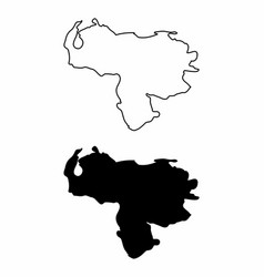 maps of venezuela vector image