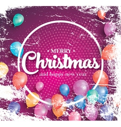 Merry christmas poster on red background vector