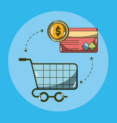 Money and shopping vector