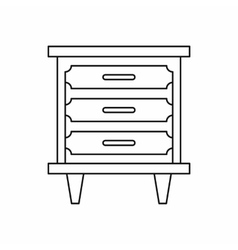 Nightstand icon in outline style vector
