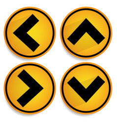 orange yellow arrows arrowheads pointing up down vector image