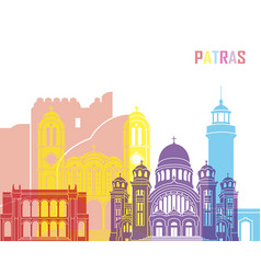 patras skyline pop vector image