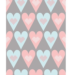 Pattern with pastel hearts vector image vector image