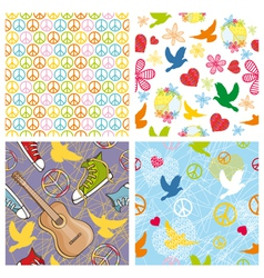 Peace seamless backgrounds vector