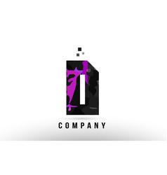 Purple black alphabet letter d logo design vector