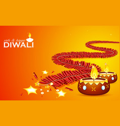 Safe and Happy Diwali vector image