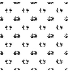 Seafood crab pattern vector