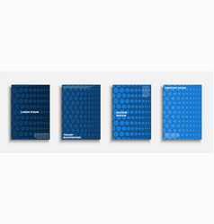 set blue creative covers templates posters vector image