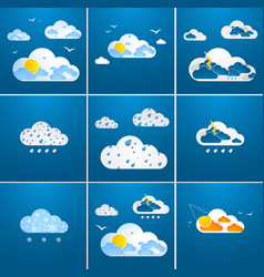 set of clod theme backgrounds vector image