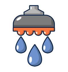 Shower head icon cartoon style vector