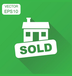 Sold house icon business concept house sold vector