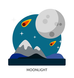 Space moonlight image vector