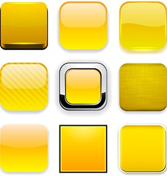 Square yellow app icons vector