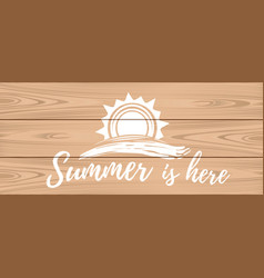 Summer logo design hello summer vector