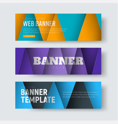 template of horizontal web banners in the style vector image vector image