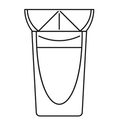 Tequila glass icon outline style vector