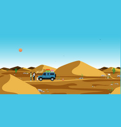 Terrain in the desert vector