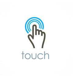 touch logo vector image vector image