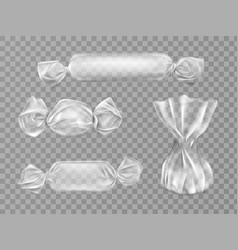 transparent candy wrapper isolated blank package vector image