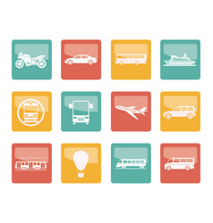 travel and transportation of people icons vector image