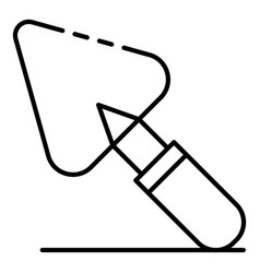 Trowel icon outline style vector