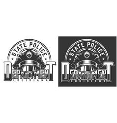 vintage policeman logotype template vector image