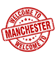 Welcome to manchester vector