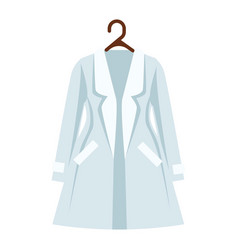 white and light blue color coat of women s vector image